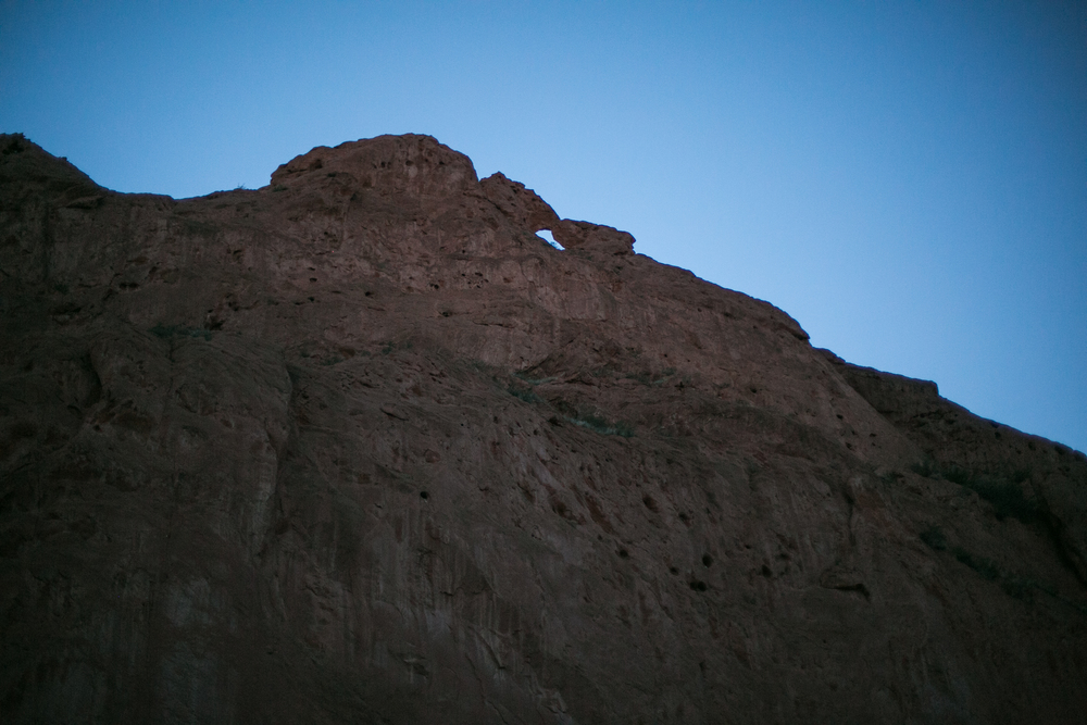 Kissing Camels in the Garden of the Gods at Dusk
