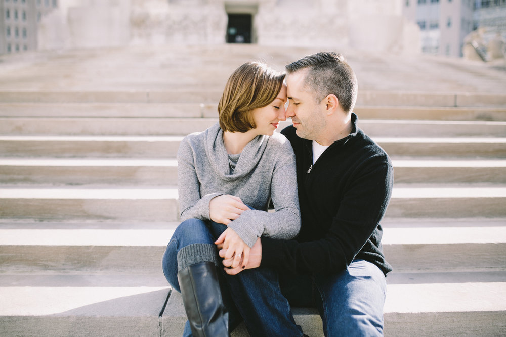 Downtown Indianapolis Engagement 01