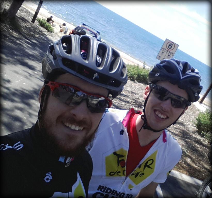 Zac & I - Hervey Bay beach.jpg