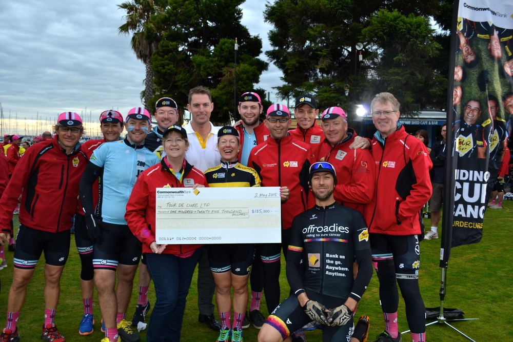 Commonwealth Bank donated a further $125,000 to Tour de Cure!