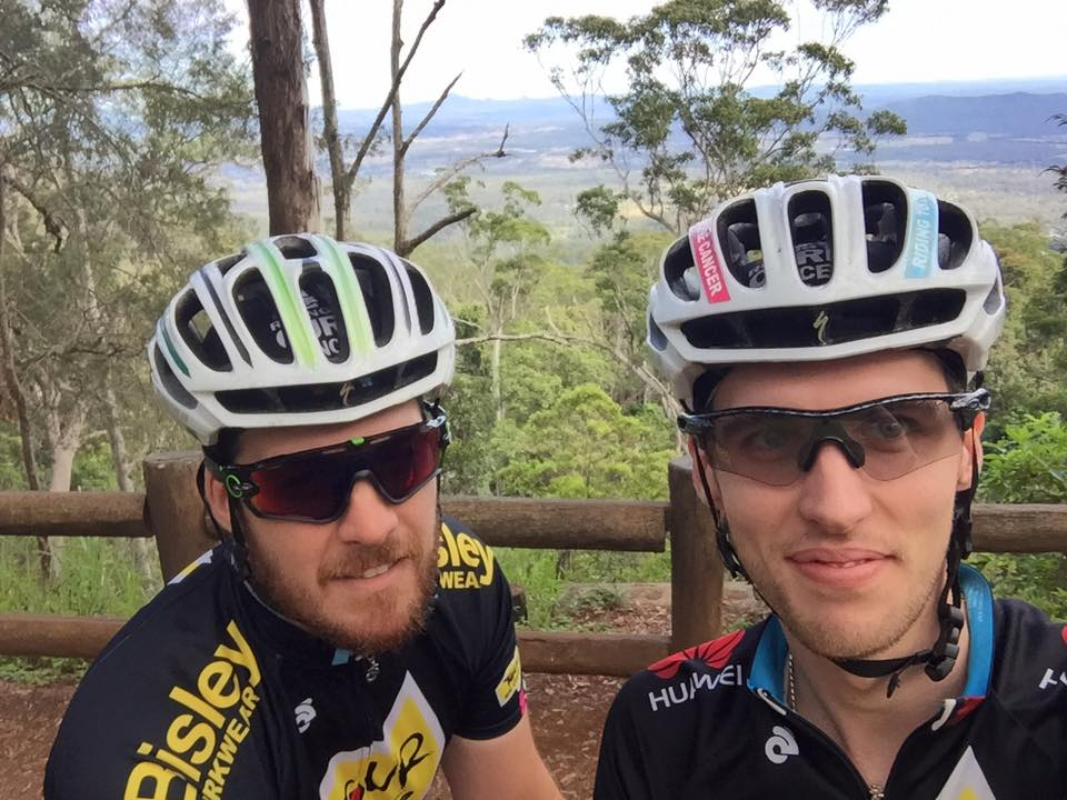 Zac and I at the top of Mt Tamborine.