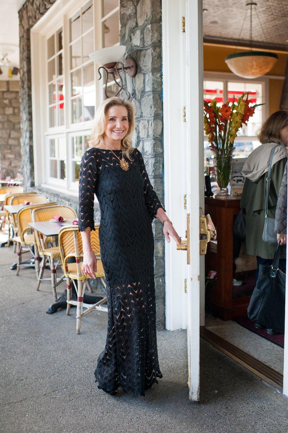 Savannah Black Lace Dress