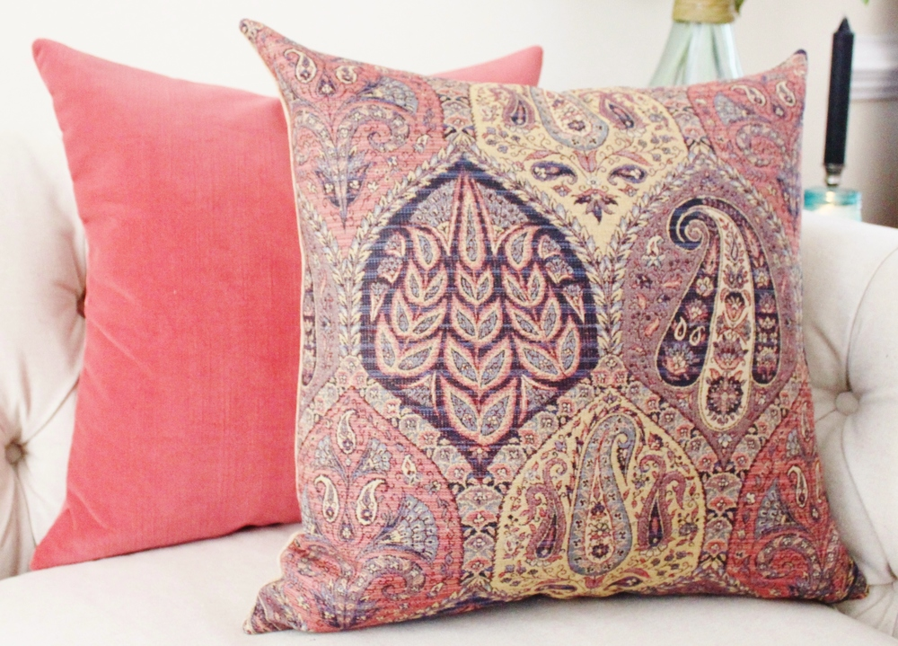 The Strawberry Velvet has quickly become a Motif Pillow Favorite.
