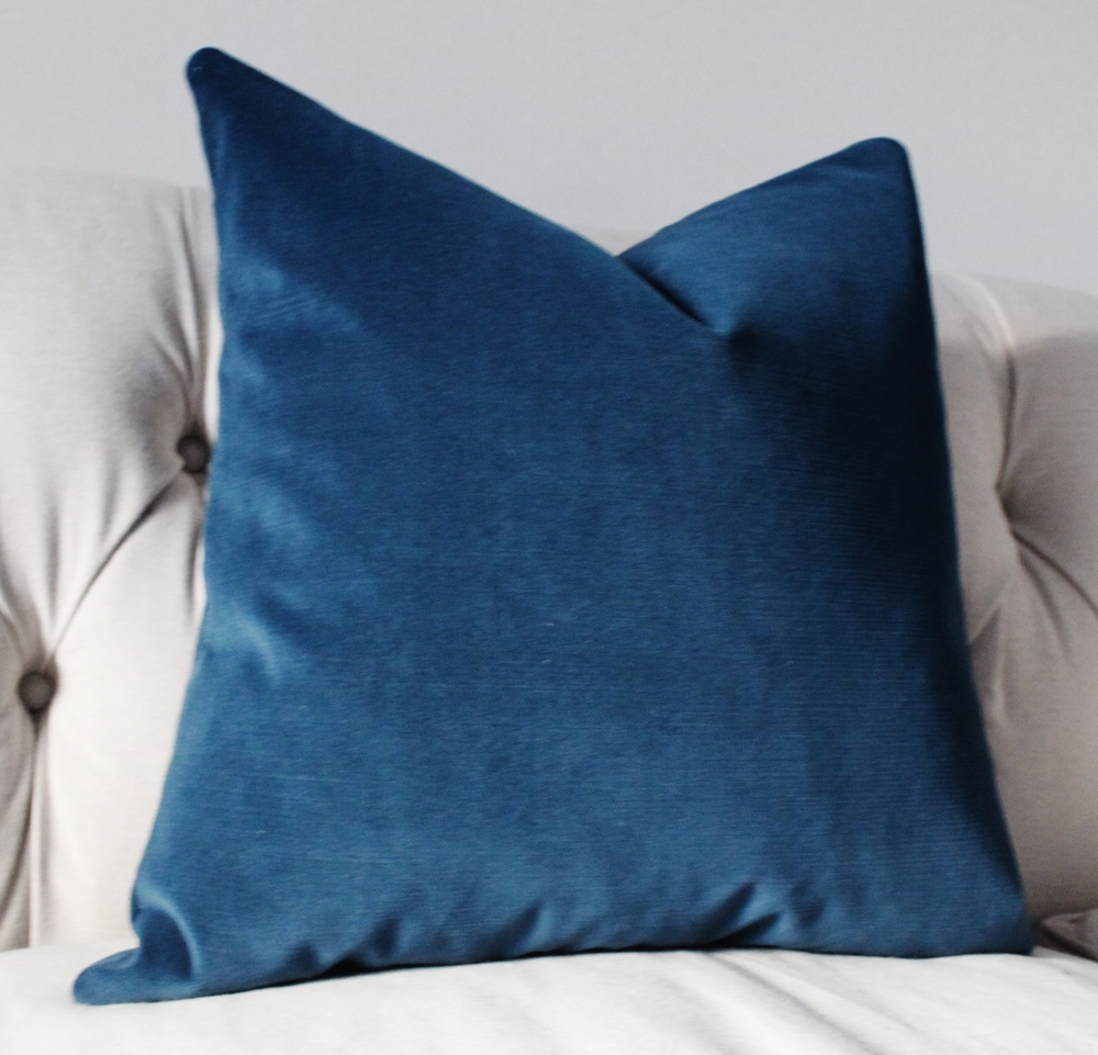 Motif Pillows Marine Blue Velvet Pillow Cover