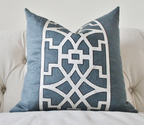 Motif Pillow featuring Mary McDonald's Don't Fret Fabric