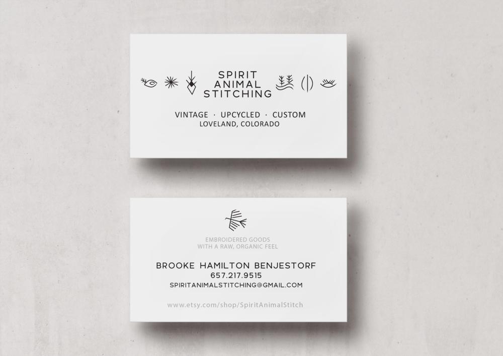 Spirit Animal Stitching Business Card Design