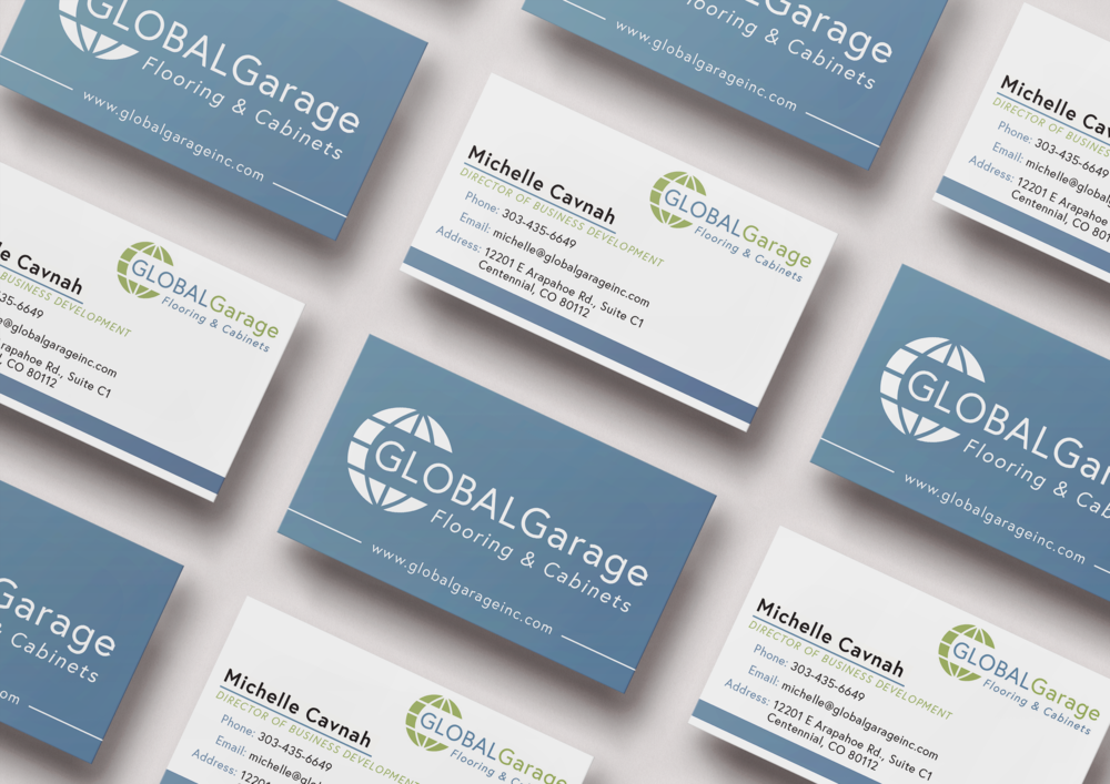 Global Garage Business Card Design
