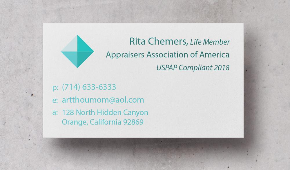 Art Appraisal Business Card Design
