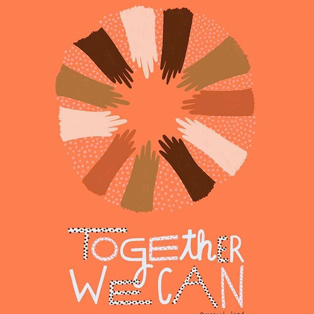 Support & solidarity for the Women's March today, together we rise! Thanks to @meenal_land for her inspiring art.  #womensmarch #equality #togetherwecan