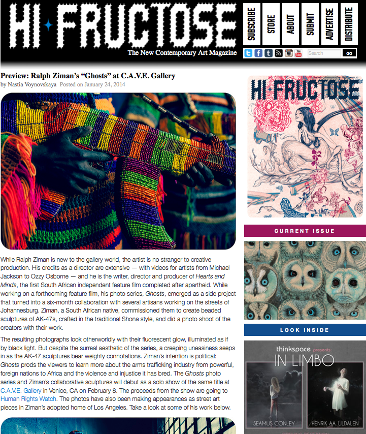 Hi-Fructose Article (click for full article)