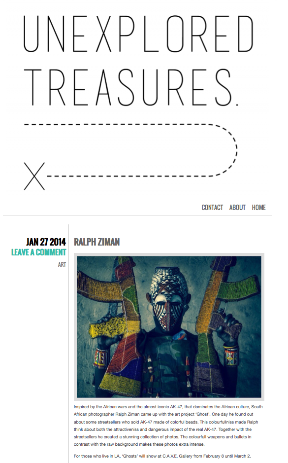 Unexplored Treasures article (click for full article)