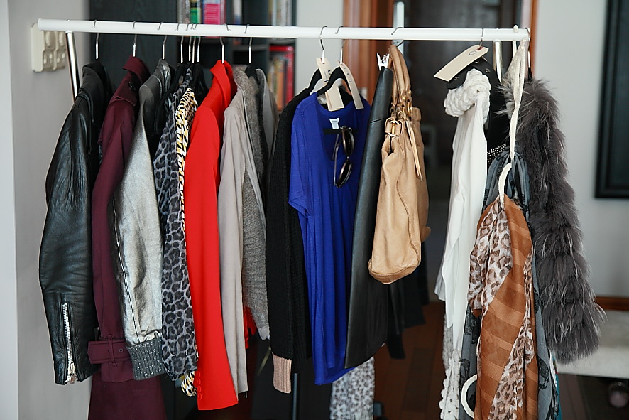 At this stage we already edited the wardrobe,  shopped  to fill the gaps and  styled  the outfits so everything is ready on the racks to be photographed.