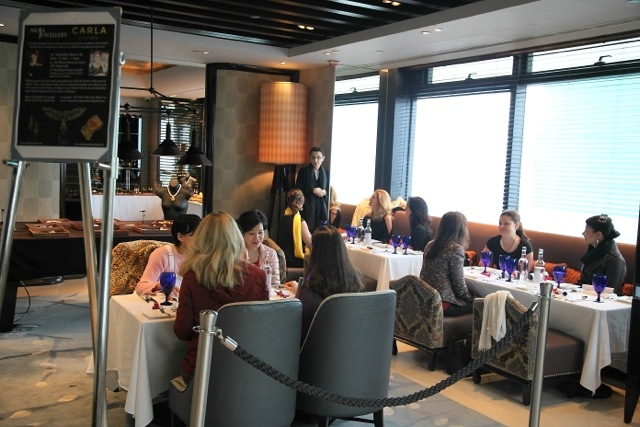 An intimate client lunch at   AZURE   with stunning panoramic views of the city