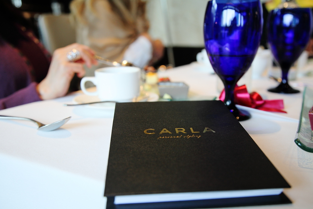 ... during the event guests also had the opportunity to learn about CARLA's  STYLE SOLUTIONS . They were the first to see the hardcover lookbook that Carla fully personalises for each of her clients.