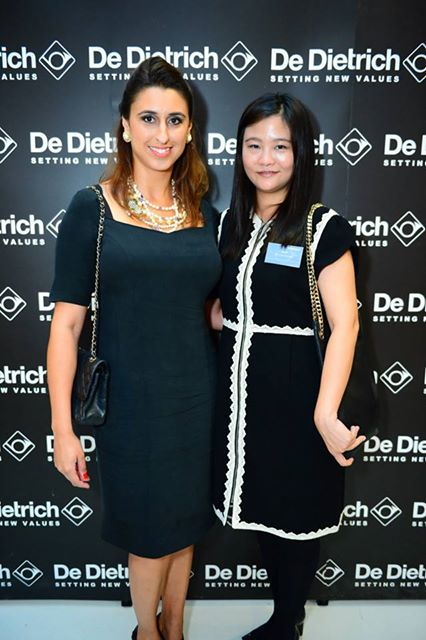 Carla with the Luxury Network SIngapore CEO, Irene Ho, at the De Dietrich product launch.