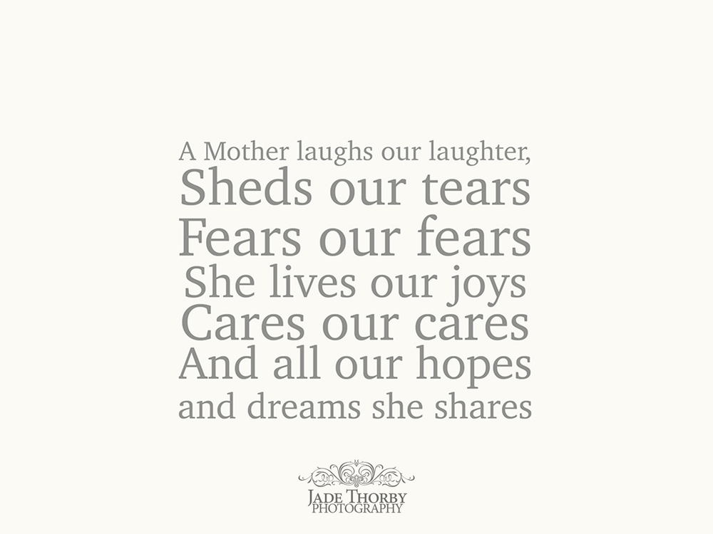 hamilton portrait photographer - mothers day quote - jade thorby photography