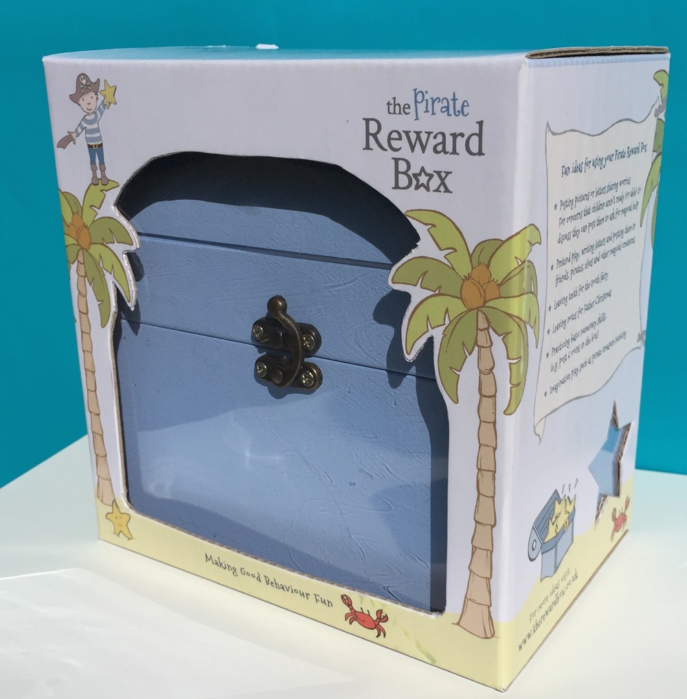 The Pirate Reward Box comes beautifully presented in a wooden gift box