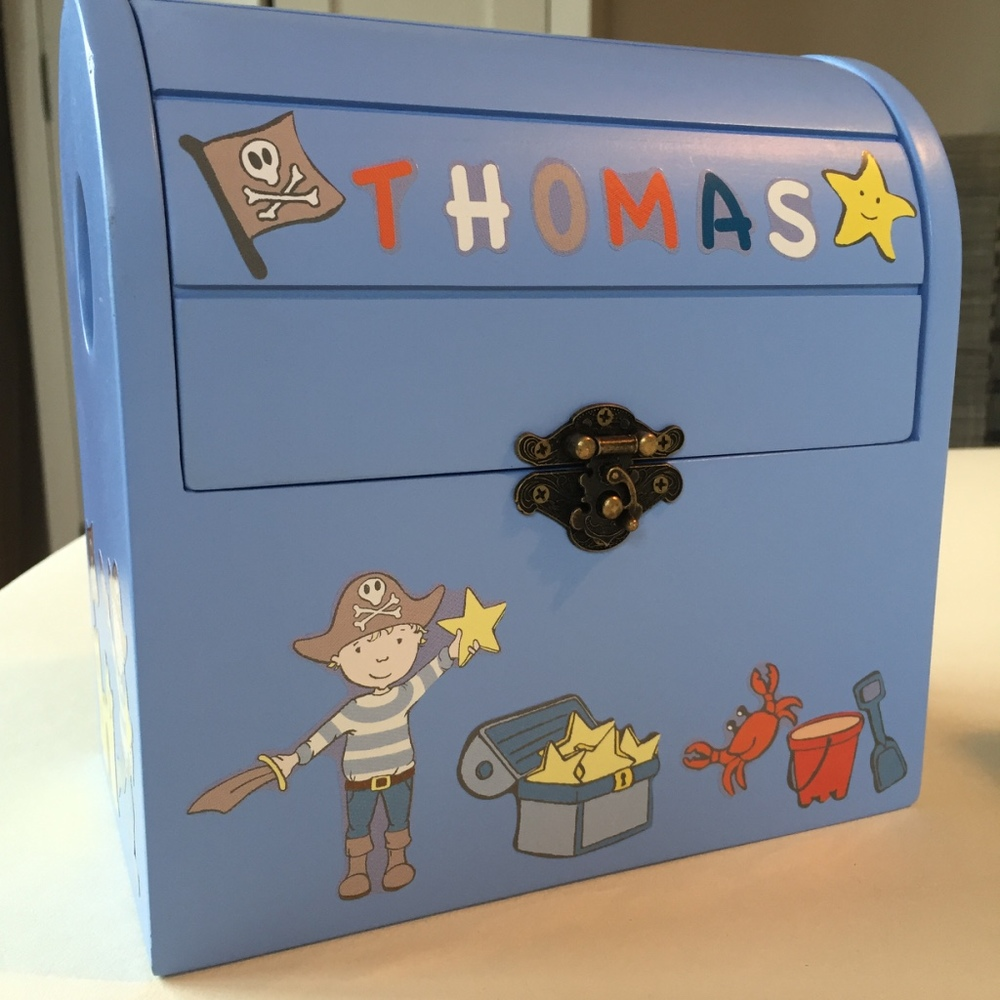 Personalised Pirate Reward Box - Thomas