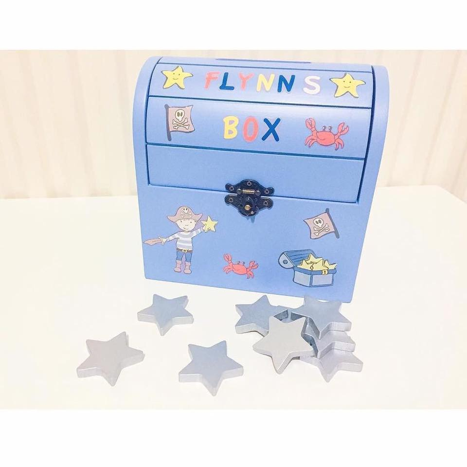 The Pirate Reward Box as personalised by Wishes and Wellies
