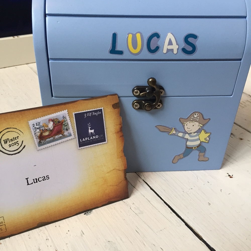 The Reward Box personalised by Lucas with Lapland UK reward