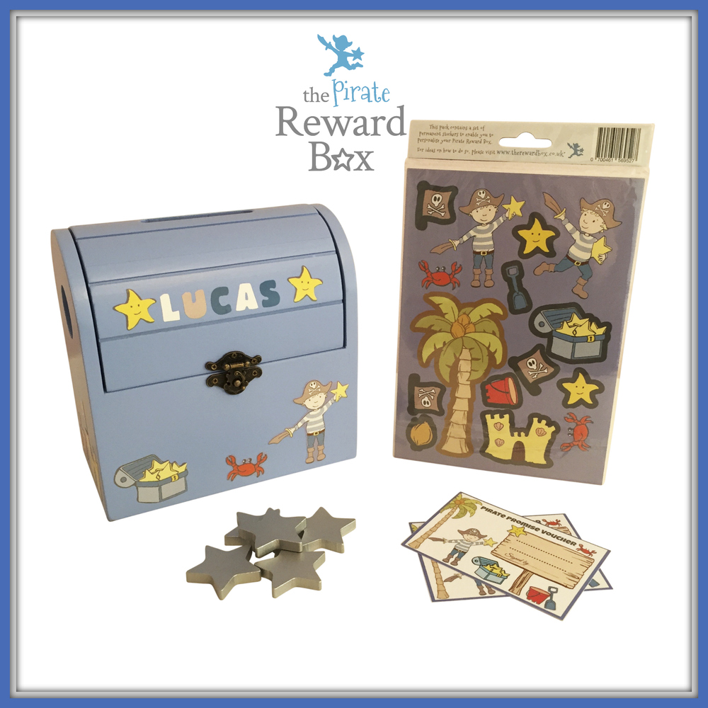 The Pirate Reward Box personalisation sticker kit and reward vouchers