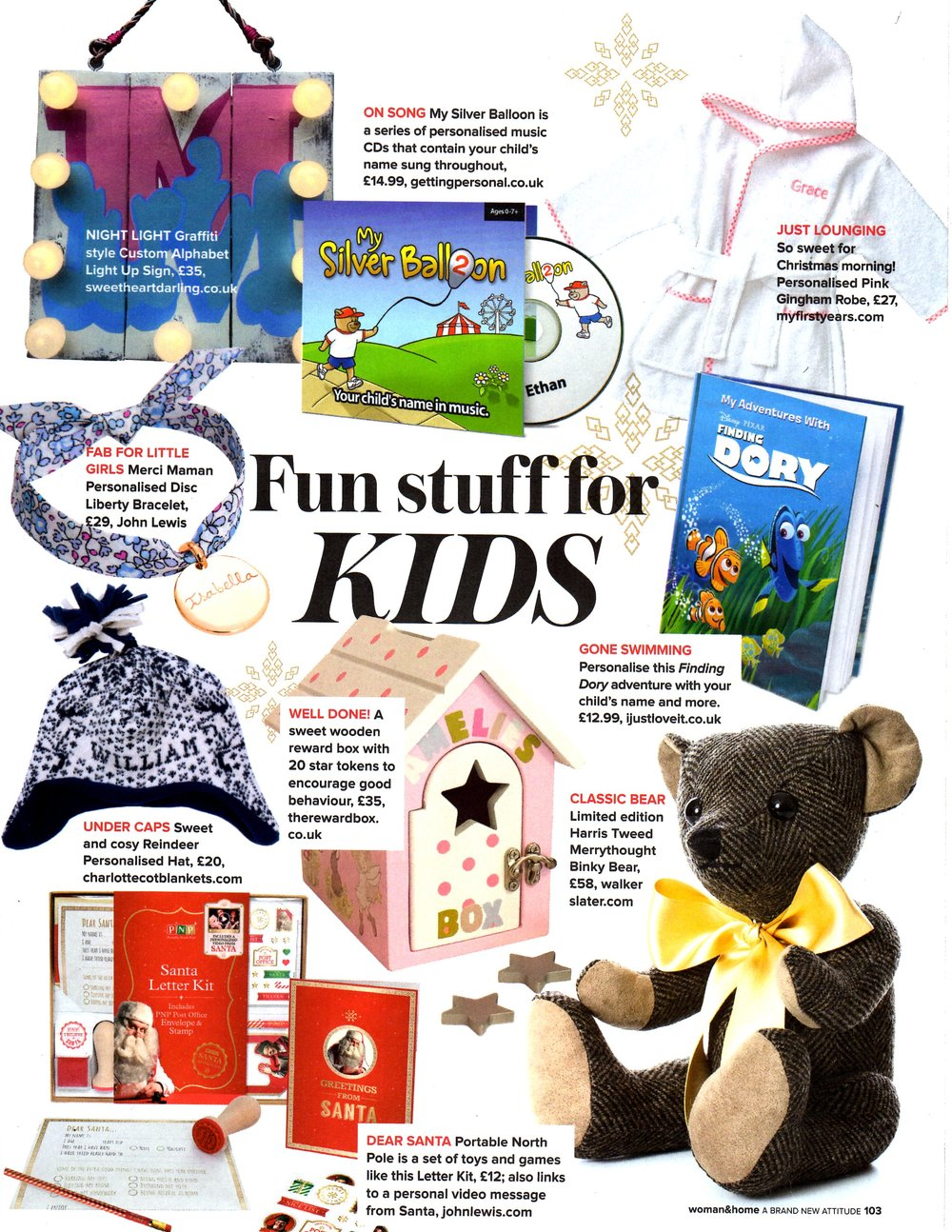 The November 2016 edition of 'Women and Home' has chosen The Reward Box as one of their picks for 'Fun Stuff for Kids'