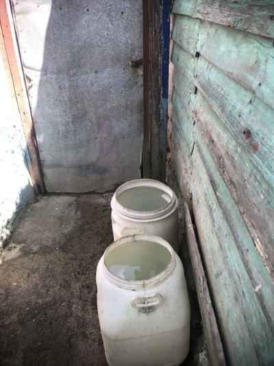 This is how water is stored for use during the week. It sits still, and mosquitos can spread disease this way.