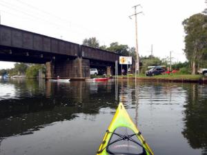 Dora Creek Railway Bridge - Launch area