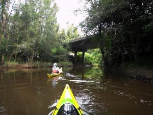 Owen Walton & John Beesley arrive at source of Stockton Creek