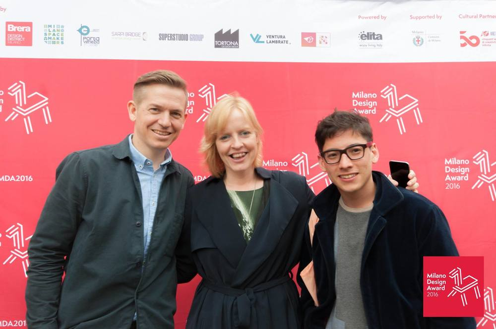 Georg Œhler, Reanne Leuning and Rio Kobayashi at the Milano Design Award