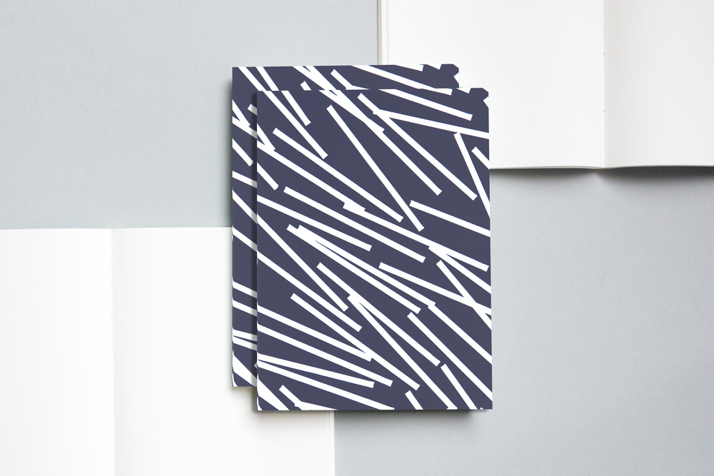 layflat notebook br lines print navy ola