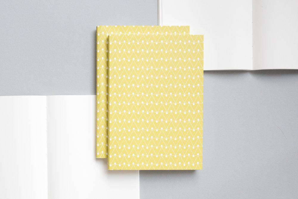 A5008ML - Layflat Notebook, Dash Print in Leaf Green and Ruled, ola.jpg