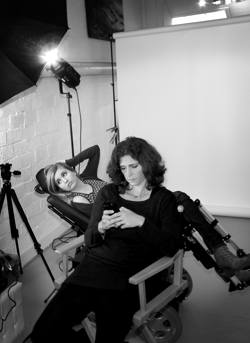 Anne & Barbara before the shoot