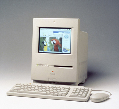 My first Mac in 1993, a Macintosh Colour Classic 4/40.