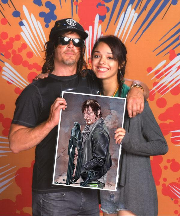 norman reedus plays daryl dixon on the walking dead holding daryl dixon fan art by tony santiago
