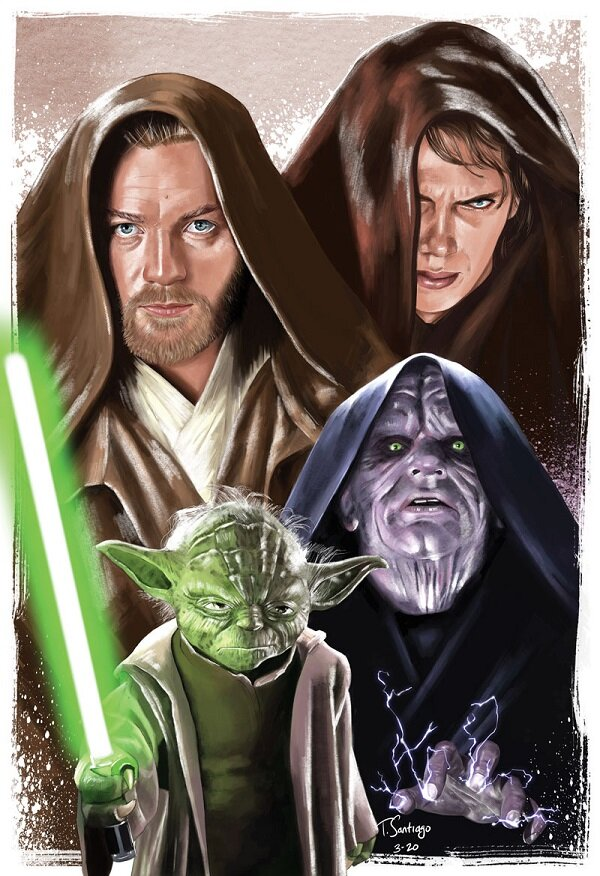 Revenge Of The Sith Tony Santiago Art