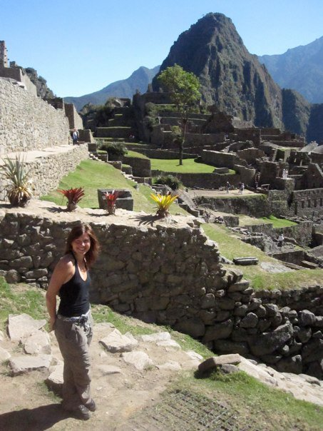 Rochelle on her first trip to Machu Picchu