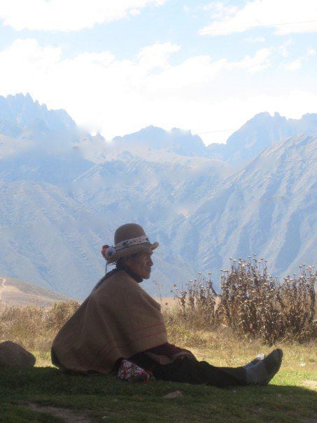 Shaman Don Francisco looking out into the Sacred Valley.