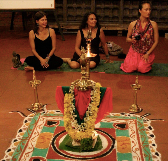 Sacred Ceremonies. Our Lakshmi Puja in Kerala.