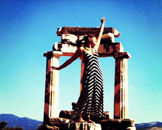 Athena temple at Delphi in Greece!