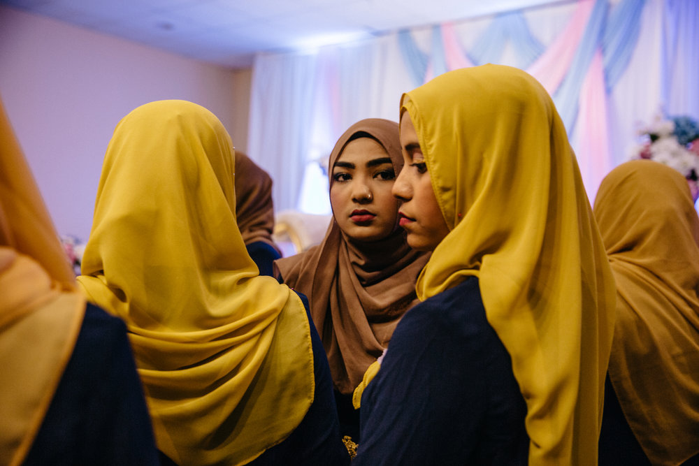 Hafizah, 18, at her sister in law's wedding. She is among the many Rohingya born in Malaysia to parents who had escaped the conflict in Myanmar.