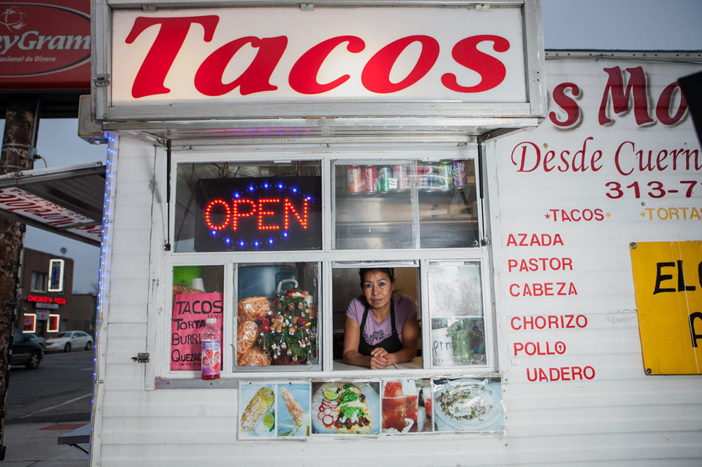 Cecilia Juarez works at Tacos Morelotes located on W. Vernor Highway in Mexicantown.