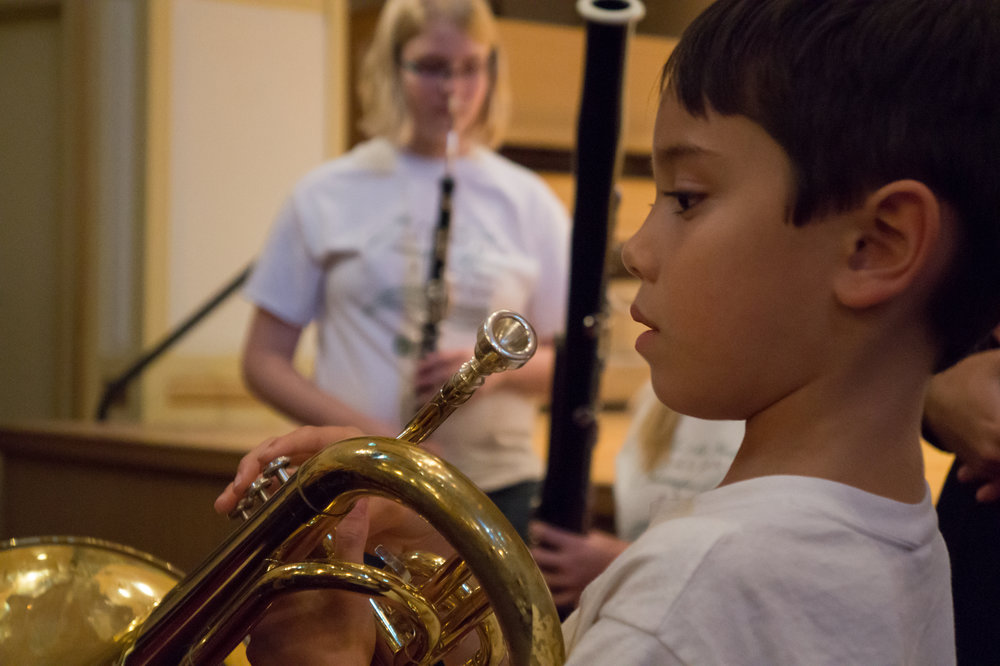 learning a new instrument, children's concert 2016