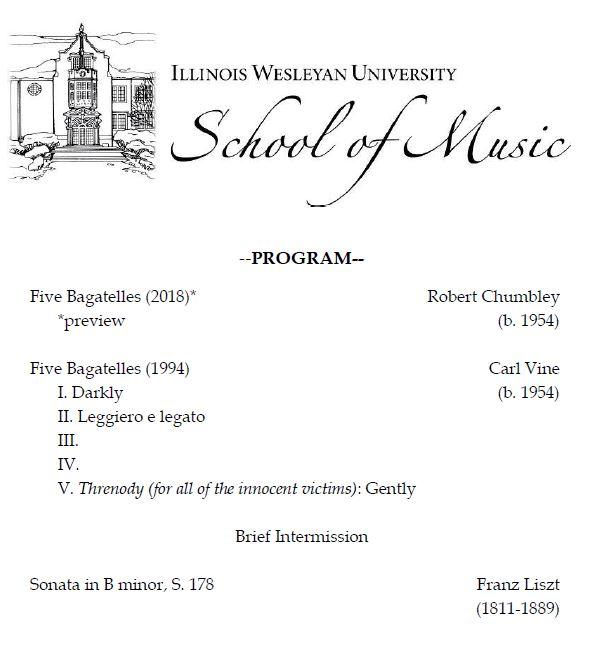 Guest Recital Series. - The Illinois Wesleyan University School of Music presents Dr. Silvan Negrutiu, piano, in its Guest Recital Series.