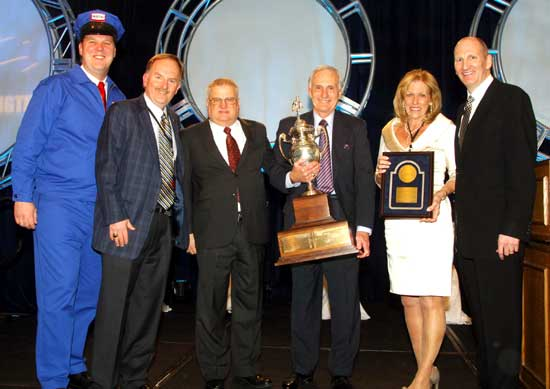 Pictured (left to right): The Maytag Repairman - Clay Jackson, Larry LaMaina, Dick Ruel, Richard LaMaina, Susan LaMaina, and Craig Kirchner