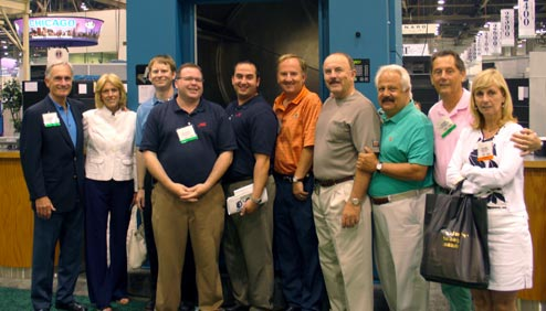 Pictured (left to right): Richard LaMaina, Susan LaMaina, Alex Kane, Greg Ilkowitz, John Olsen, Larry LaMaina, H. Bruce Rainey, Jason Bobroff, Bob LaMaina, Carol LaMaina