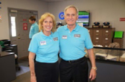 Sue and Dick LaMaina, principals of Equipment Marketers who graciously welcome every attendee