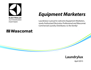 Equipment Marketers of New Jersey – New Authorized Electrolux and Wascomat Distributor.