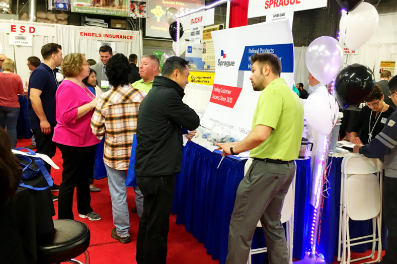 Sprague Energy presented various ways to control a store's utility costs at their booth.