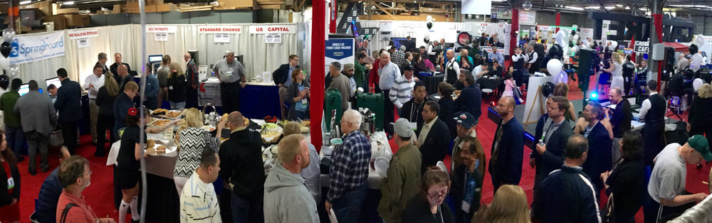 Approximately 350 people attedned the Commercial Laundry Trade Show, visiting with vendors, participating in business and service seminars, networking with other attedees, and enjoying the entertaiment all day.